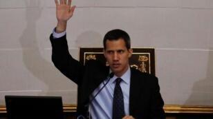 زعيم المعارضة الفنزويلي خوان غوايدو في مجلس النواب 29 يناير/ كانون الثاني 2019