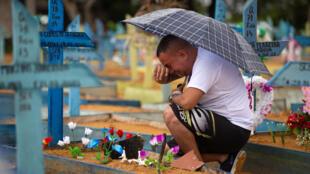 Brazil Covid-19 death burial