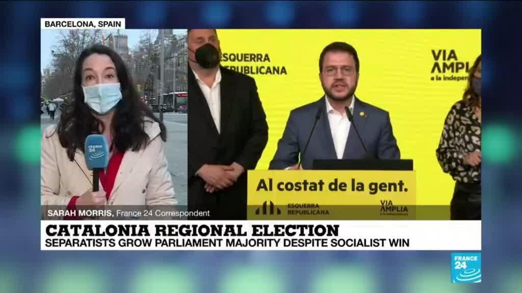 2021-02-15 08:07 Separatists grow majority in Catalonia despite Socialist win