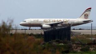 طائرة تابعة لشركة طيران الاتحاد