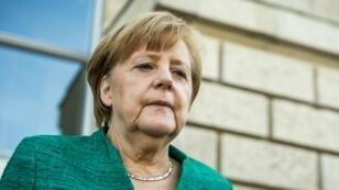 المستشارة الألمانية أنغيلا ميركل، برلين 14 كانون الثاني/يناير 2018.