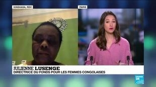 """2020-03-08 21:10 Julienne Lusenge sur France 24: """"Les femmes congolaises sont victimes de plusieurs violences"""""""
