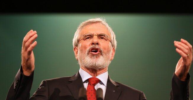 Gerry Adams lors de son discours au congrès du Sinn Féin, le 18 novembre 2017.