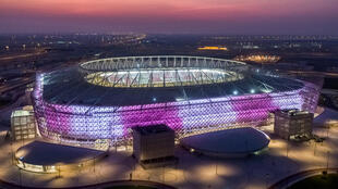 Qatar's Al-Rayyan Venue which will host World Cup 2022 matches and opened its doors with a domestic cup final
