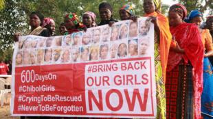 De nombreuses manifestations ont eu lieu à travers le monde après l'enlèvement de 276 jeunes filles dans un lycée de Chibok, au Nigeria, en avril 2014.