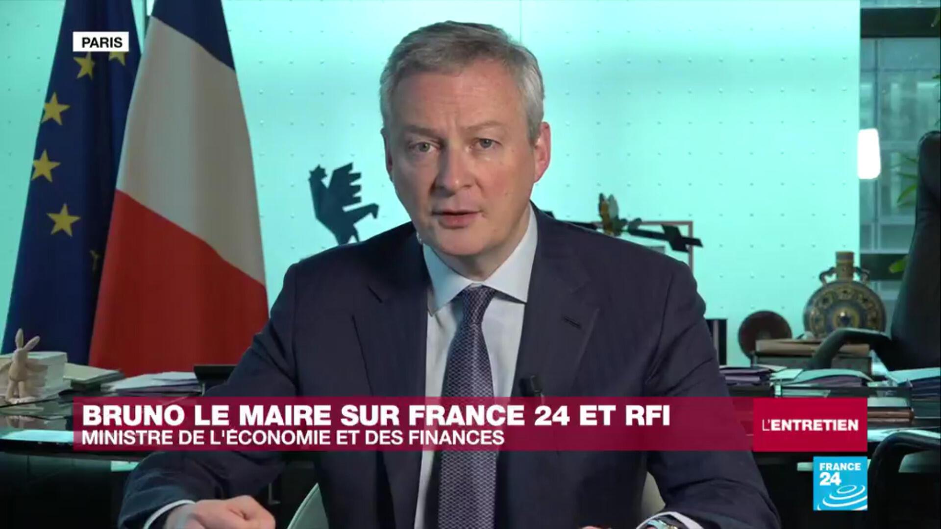 Le ministre de l'Économie et des Finances Bruno Le Maire sur France 24 et RFI vendredi 3 avril 2020