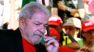Luiz Inacio Lula da Silva à Santana do Livramento, dans le sud du Brésil, en mars 2018.