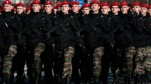 Security forces and armoured vehicles filed through the northern town of Banja Luka, capital of the Bosnian Serb-run entity for the event, which is opposed by Muslims in Bosnia