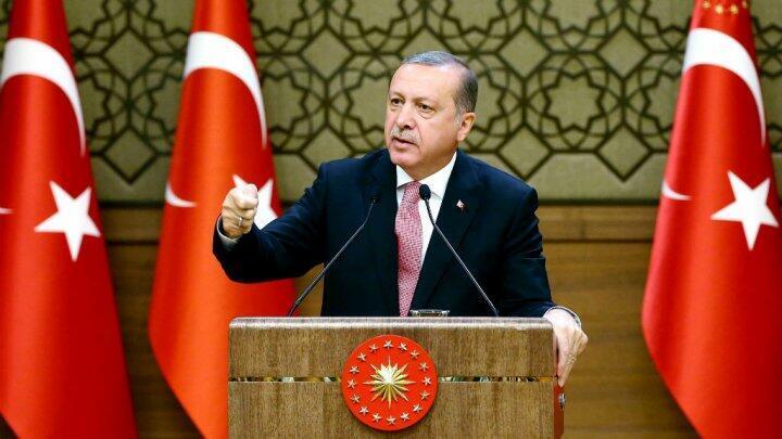 Le président Recep Tayyip Erodgan lors de son discours, le 2 août 2016.