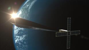 Image de synthèse du satellite artistique