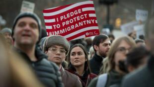 Manifestation du Council on American Islamic Relations, le 25 janvier, à New York.