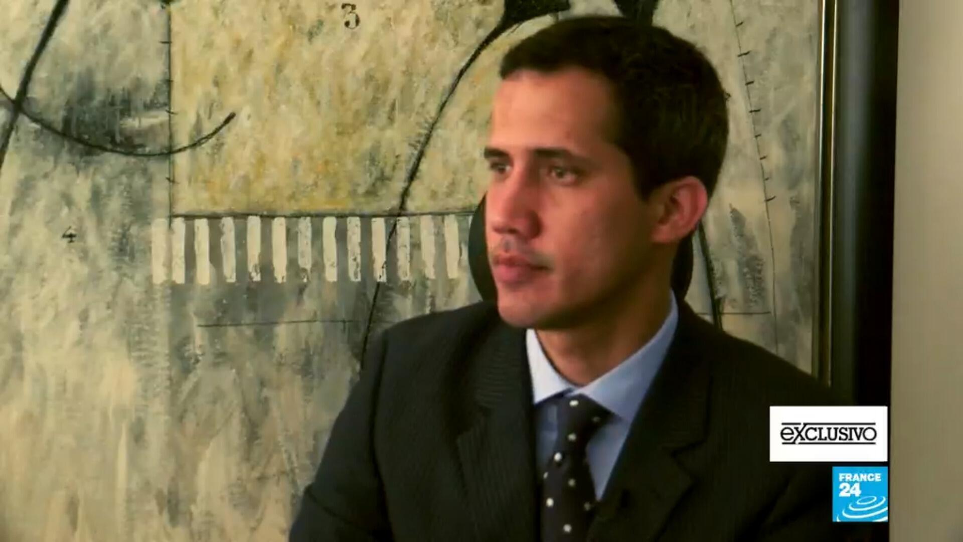 Juan Guaidó, proclamado presidente interino de Venezuela, en entrevista con France 24.