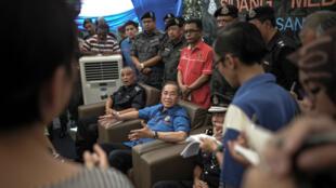 Le ministre malaisien de l'Intérieur adjoint, Wan Junaidi Tuanku Jaafar, durant une conférence de presse le 28 mai.