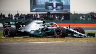 Le Finlandais Valtteri Bottas en pole position au GP de Grande Bretagne le 13 juillet 2019