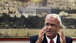 Le négociateur en chef palestinien, Saëb Erakat.