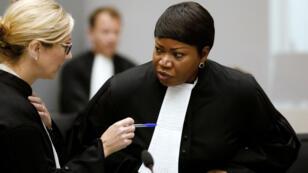 La procureure congolaise Fatou Bensouda à la Cour pénale internationale de La Haye, le 28 août 2018.