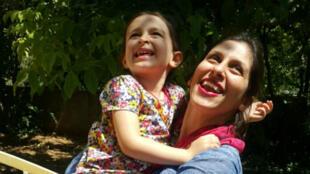 Nazanin Zaghari-Ratcliffe a retrouvé sa fille lors de sa libération provisoire de trois jours, à Téhéran, le 23 août 2018.
