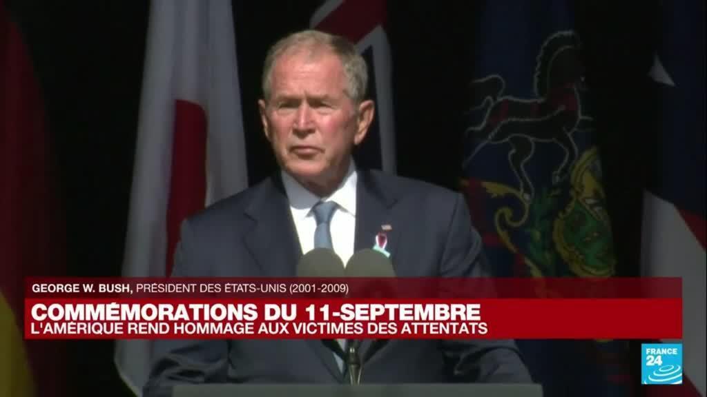 2021-09-11 16:46 'Aujourd'hui nous partageons notre tristesse' déclare George W. Bush pour les 20 ans du 11-Septembre