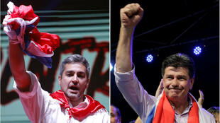 Los candidatos favoritos a ganar la Presidencia de Paraguay cerraron sus campañas previo a las elecciones del doming. 19 de abril de 2018.