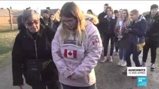2020-01-27 14:40 75 ans de la libération d'Auschwitz : Les survivants font visiter l'ancien camp à des lycéens