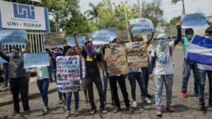 Las protestas en Nicaragua se han mantenido por 21 días y han dejado al menos 47 fallecidos según organizaciones de derechos humanos. Mayo 8 de 2018.