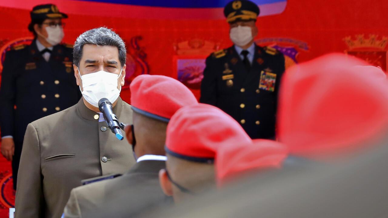 Venezuelan president Nicolas Maduro speaking to military graduates in Caracas, Venezuela on July 2, 2020.