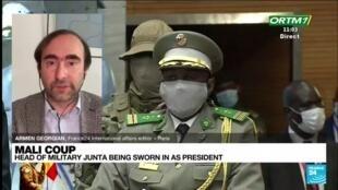 2021-06-07 13:02 Mali junta boss to be sworn in as interim president
