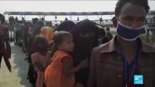 2020-12-04 10:10 Crise de Rohingyas : le Bangladesh transfère des réfugiés vers une île isolée