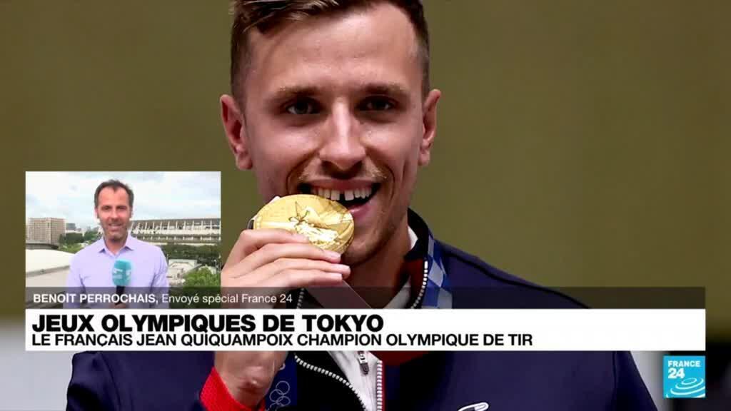 2021-08-02 11:06 JO de Tokyo : le Français Jean Quiquampoix champion olympique de tir