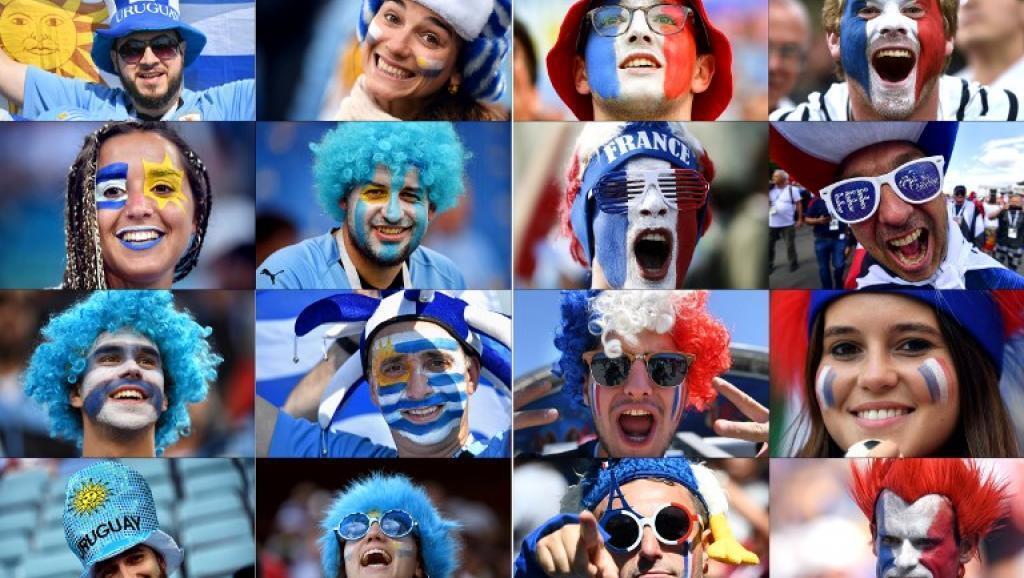 Francia y Uruguay: dos selecciones con aficiones que palpitan por sus equipos.