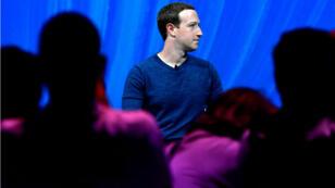Le patron de Facebook Mark Zuckerberg au salon international des start-up Vivatech, à Paris, le 24 mai dernier.