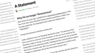 Anonymous warning miles taylor medium statement