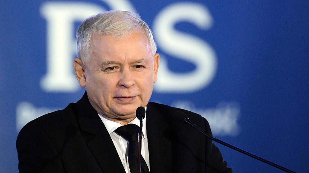 Jaroslaw Kaczynski, leader du parti Droit et Justice, victorieux des législatives en Pologne.