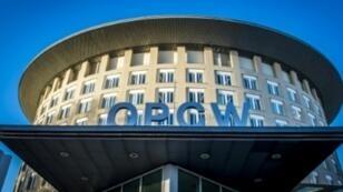 مقر منظمة حظر الأسلحة الكيميائية في لاهاي في 15 تشرين الثاني/نوفمبر 2013
