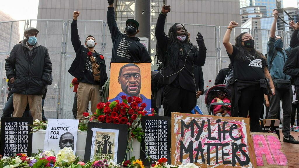 US protesters call for justice ahead of George Floyd murder trial