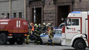 Les secours sont rapidement intervenues dans la station de métro où a eu lieu l'attentat.