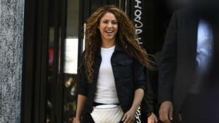 La cantante colombiana Shakira sale de una corte en Madrid, el 27 de marzo de 2019.