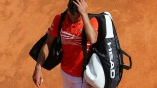 No panic: Novak Djokovic leaves the court after losing to Daniil Medvedev