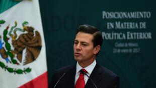 Le président du Mexique, Enrique Peña Nieto se dit opposé à la contruction d'un mur à la frontière avec les États-Unis.
