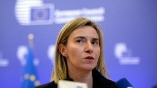 وزيرة خارجية الاتحاد الأوروبي فيديريكا موغوريني في 19 شباط/فبراير 2016