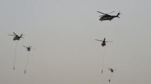 Un ejercicio militar contra el terrorismo, el 23 de mayo de 2017 en Riad.