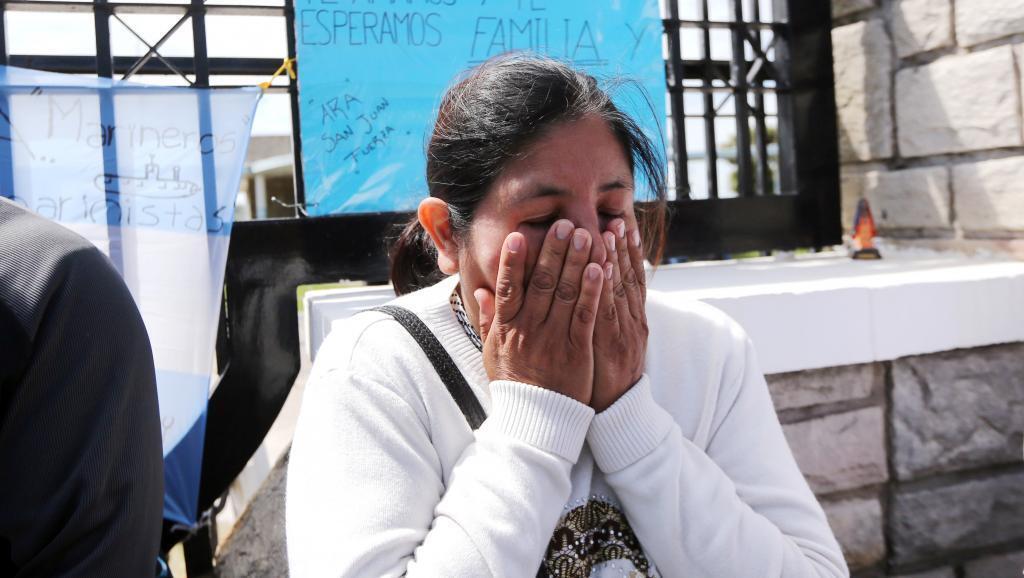 Elena Alfaro, hermana de unos de los 44 marinos desaparecidos con el submarino ARA San Juan, el 22 de noviembre de 2017 en Buenos Aires.