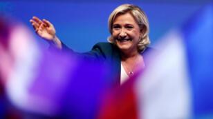 Marine Le Pen durante el lanzamiento de la campaña a las elecciones europeas del partido Agrupación Nacional. 13 de enero de 2019.