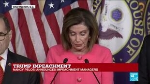 """2020-01-15 16:11 Nancy Pelosi lays out """"incriminating evidence"""" revealed since passing articles of impeachment"""