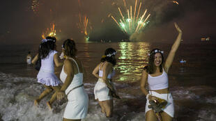 Rio de Janeiro has canceled its New Year's Eve celebration, like the one pictured in this file photo from December 31, 2019, as the coronavirus continues to surge in Brazil