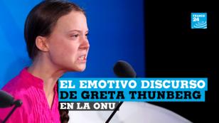 Greta Thumber pronunció uno de los discursos más esperados en el marco de la Cumbre sobre el Clima este 23 de septiembre en Nueva York, Estados Unidos.