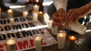 Imagen de una protesta en contra del crimen organizaco en Guadalajara. 12/09/18