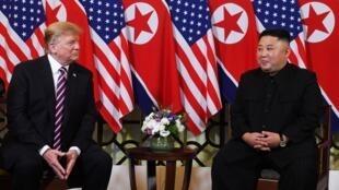 Donald Trump et Kim Jong-un à Hanoi, le 27 février 2019.