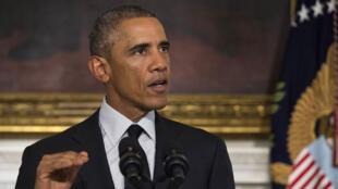 Barack Obama lors de son allocution à la Maison Blanche, le 18 septembre.