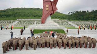 Commémoration à Pyongyang du 62e anniversaire de la fin des combats en Corée, le 28 juillet 2015.